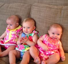 The girls in their Lilly Pulitzer