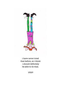 Pippi macht Yoga Pippi Longstocking Kunstdruck von ZinniaAwakens