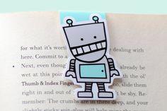 Señal magnética del Robot azul Jumbo por craftedvan en Etsy