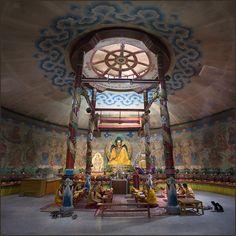 Monks Prayer in Dashchoylin Monastery in Ulaanbaatar (Square) by Karl Schuler