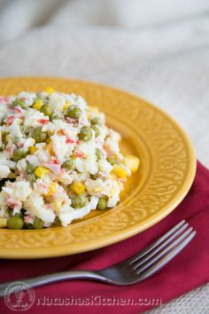 Russian Style Crab Salad Recipe – Крабовый Салат Save Print Prep time 15 mins Total time 15 mins Author: Natasha of Nata. Ukrainian Recipes, Russian Recipes, Ukrainian Food, Imitation Crab Salad, Seafood Recipes, Cooking Recipes, Smoker Recipes, Cooking Tips, Crab Cakes