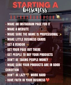 Successful Business Tips, Business Advice, Business Motivation, Business Goals, Best Small Business Ideas, Small Business Plan, Small Business Marketing, Jobs For Teens, Small Business Organization