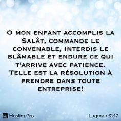 Extrait du Coran, Luqman (31:17) #muslimpro http://www.muslimpro.com/dl