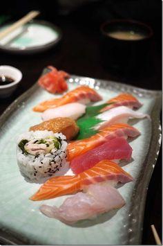 Mixed sushi platter.