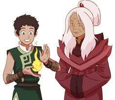 Opposite Elements AU - Aang's firebending teacher is Master Hama, The Dragon of the West, who also taught Katara when she was younger. Hama was never captured in this AU and is lifelong friends with Kanna.