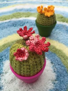 Some of my crochet cactus from my patterns