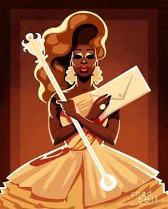 'Enter Purse First!', Bob the Drag Queen by Chad Sell, RPDR8 winner