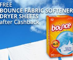Make #laundry day #freestuff day with a FREE box of Bounce Fabric Softener Dryer Sheets