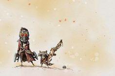 I Am Cute! 'Guardians of the Galaxy' Art by M.J. Hiblen