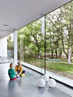 Lede, Belgium House V-C GRAUX & BAEYENS architects. - magnifique projet de plancher de béton.