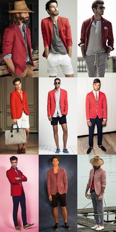 Men's Red Blazer Outfit Inspiration Lookbook