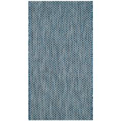 Courtyard Navy/Gray (Blue/Gray) 2 ft. 7 in. x 5 ft. Indoor/Outdoor Rectangle Area Rug
