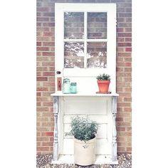 Door \u2022 old door \u2022 potting bench \u2022 diy