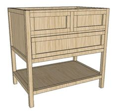 Simple Sink Console - build a Pottery Barn bathroom vanity for way, way less