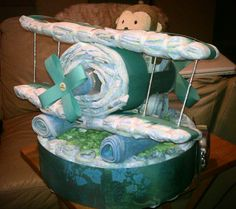 airplane diaper cake | New Cake Ideas