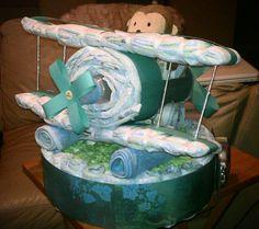 airplane diaper cake | New Cake Ideas