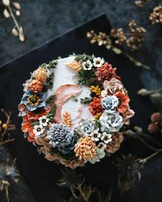Buttercream flowers | Pinterest: Natalia Escaño