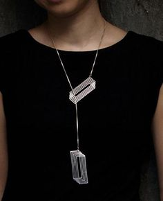 Geometric Pendant Gold Silver Chain Women Simple Long Necklace