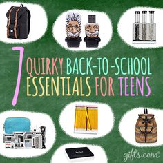 It's time to get ready for #BackToSchool! These few #teen gifts are way cool for school...http://blog.gifts.com/holidays/7-quirky-back-to-school-supplies-for-teens