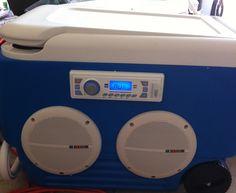 Beach Boom Box ice chest radio with wheels