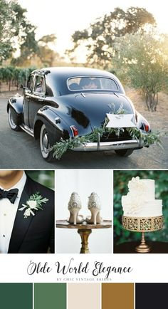 Olde World Elegance – Romantic Wedding Inspiration in a Chic Colour Palette of White & Green – Chic Vintage Brides - Romantic weddings 1920s Wedding, Art Deco Wedding, Elegant Wedding, Dream Wedding, Wedding Shot, Wedding Dj, Old World Wedding Decor, Prohibition Wedding, Wedding Posing