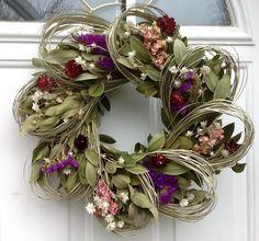 Wreaths For Door - Larkspur And Loops Dried Flower Wreath, $59.99 (http://www.wreathsfordoor.com/larkspur-and-loops-dried-flower-wreath/)
