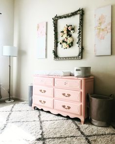 Bright White Pastel Baby Nursery Reveal Blush Pink And