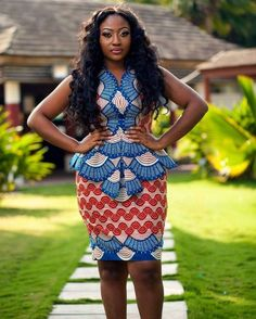 Smart Looking Ankara Skirt and Blouse Styles For Ladies ...Smart Looking Ankara Skirt and Blouse Styles For Ladies