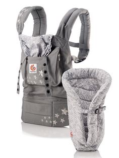 Ergobaby Carrier -- see the gallery for more essential baby gear.  I pretty much use this every day.