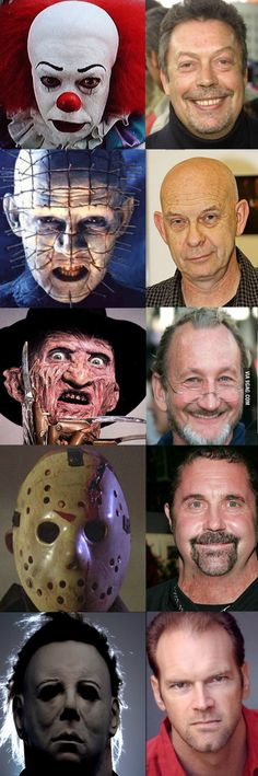 Horror Film Characters without the Masks