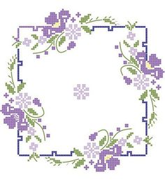Wonderful Ribbon Embroidery Flowers by Hand Ideas. Enchanting Ribbon Embroidery Flowers by Hand Ideas. Cross Stitch Borders, Crochet Borders, Cross Stitch Flowers, Cross Stitch Designs, Cross Stitching, Cross Stitch Patterns, Hardanger Embroidery, Rose Embroidery, Learn Embroidery