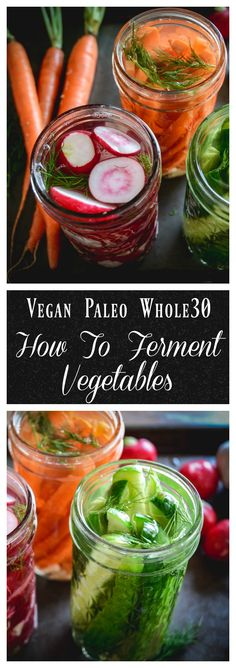 Fermented vegetables are one of the healthiest foods we can eat. They're loaded with natural probiotics and enzymes and take only 15 minutes to prepare. Best Probiotic, Probiotic Foods, Fermented Foods, Dairy Free Recipes, Real Food Recipes, Vegetarian Recipes, Healthy Recipes, Vegetarian Diets, Gluten Free