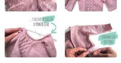 Monísimo jersey de bebé a dos agujas, paso a paso