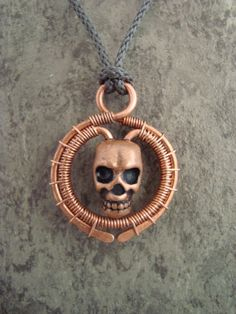 Wire wrap skull pendant. My fourth try at wire wrapping...the first three were crap :-)