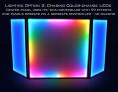 LED DJ Booth and LED DJ Facade