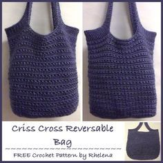 Criss-Cross Reversible Bag ~ FREE Crochet Pattern