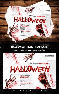 Halloween Flyer Template PSD #design Download: http://graphicriver.net/item/halloween-flyer/12966362?ref=ksioks