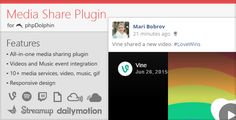 Media Share Plugin for phpDolphin (Add-ons) Download   http://w7download.com/media-share-plugin-for-phpdolphin-add-ons-download
