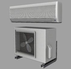 3D Model Air Conditioner Set c4d, obj, 3ds, fbx