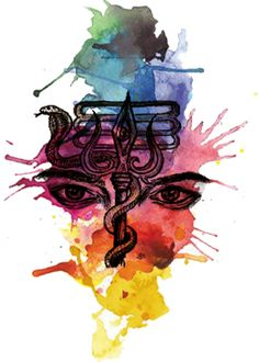 Shiva trishul with third eye abstract
