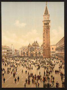 Colour photocroms of Venice, 1890s
