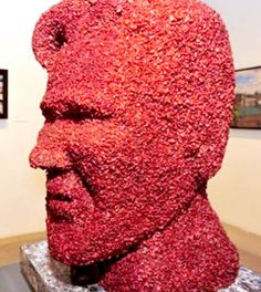 A bust of Kevin Bacon...made out of bacon.