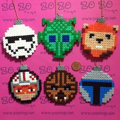 Star Wars Set 3 Christmas Pixel Baubles via Zo Zo Tings. Click on the image to see more!