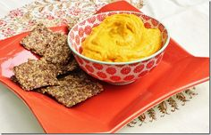 Easy & Healthy Summer Appetizer   Vegan carrot mousse made with carrots, white miso, toasted sesame oil, pumpkin seeds, rice vinegar, one large pitted date and water.