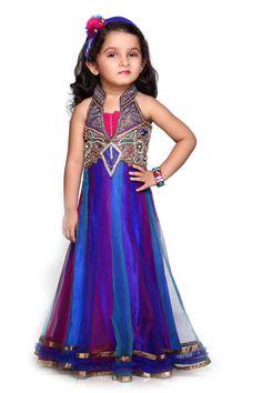 Indian Ethnic Wear WOMEN EHS-Designer Lehenga Choli Dress- Royal Blue