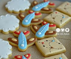 Biscoitos Decorados Aviador vintage - vintage aviator decorated cookies