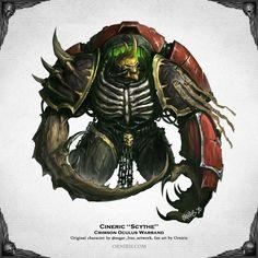 ArtStation - Cyneric ''Scythe'' - Warhammer 40,000 Fan Art, Orniris Terensi Warhammer 40k Art, Warhammer Fantasy, Chaos 40k, Monster Illustration, Fantasy Monster, Space Marine, Fantasy Artwork, Art Reference, Concept Art