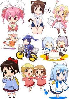 Anime Chibi Clear Stamps Large Sheet 7x10 UM FLONZ 403