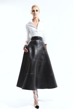 long leather skirt!
