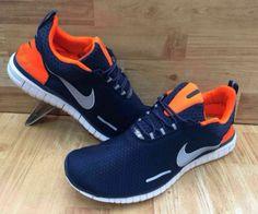 f3b03e4f9376 Buy Nike Airmax   Og Orange   Navy Blue Colored Mesh Sports Shoes For Men  online